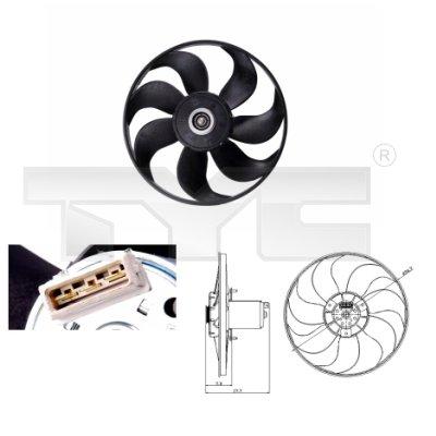 Ventilateur, refroidissement du moteur - TYC - 837-0013