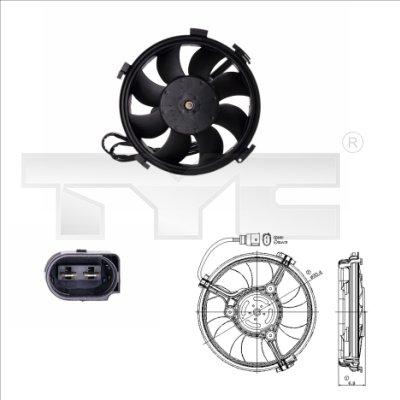 Ventilateur, refroidissement du moteur - TYC - 837-0016