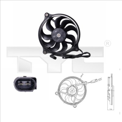 Ventilateur, refroidissement du moteur - TYC - 837-0017