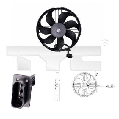 Ventilateur, refroidissement du moteur - TYC - 837-0018