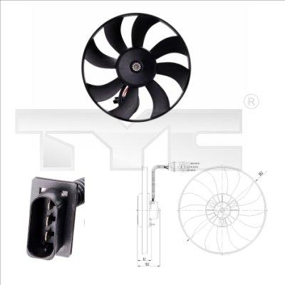 Ventilateur, refroidissement du moteur - TYC - 837-0020