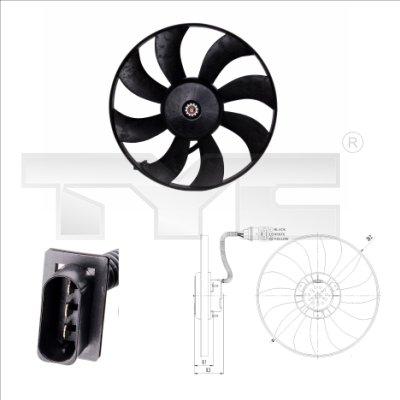 Ventilateur, refroidissement du moteur - TYC - 837-0021