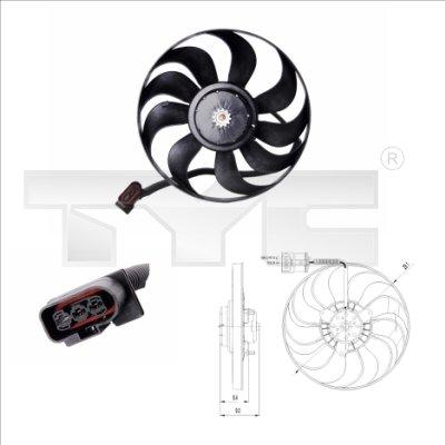 Ventilateur, refroidissement du moteur - TCE - 99-837-0022