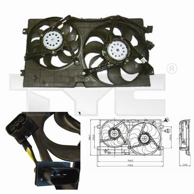 Ventilateur, refroidissement du moteur - TYC - 837-0023