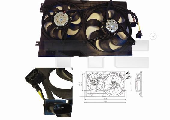 Ventilateur, refroidissement du moteur - TYC - 837-0024