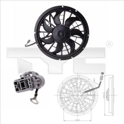 Ventilateur, refroidissement du moteur - TCE - 99-838-0001