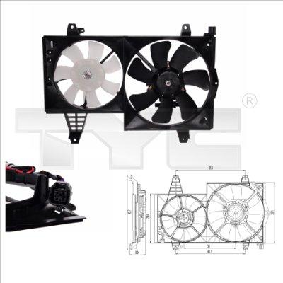 Ventilateur, refroidissement du moteur - TYC - 838-0006