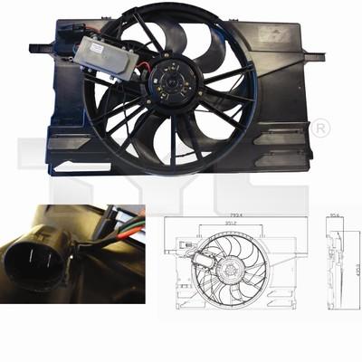 Ventilateur, refroidissement du moteur - TYC - 838-0007
