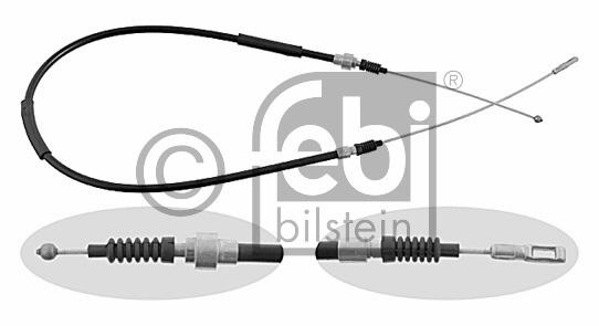 Tirette à câble, frein de stationnement - FEBI BILSTEIN - 02088