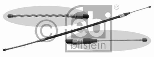 Tirette à câble, frein de stationnement - FEBI BILSTEIN - 14208