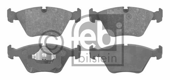 Kit de plaquettes de frein, frein à disque - FEBI BILSTEIN - 16000