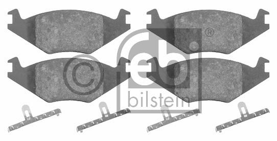 Kit de plaquettes de frein, frein à disque - FEBI BILSTEIN - 16011