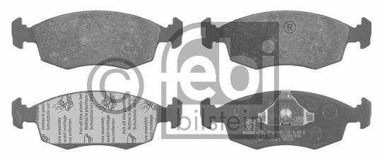 Kit de plaquettes de frein, frein à disque - FEBI BILSTEIN - 16021