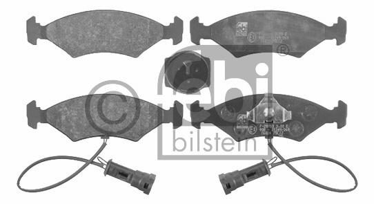 Kit de plaquettes de frein, frein à disque - FEBI BILSTEIN - 16024