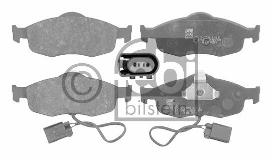 Kit de plaquettes de frein, frein à disque - FEBI BILSTEIN - 16035