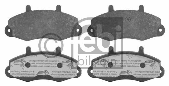 Kit de plaquettes de frein, frein à disque - FEBI BILSTEIN - 16037