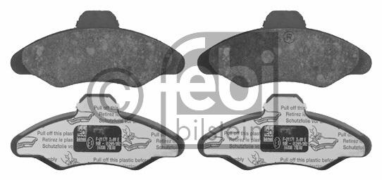 Kit de plaquettes de frein, frein à disque - FEBI BILSTEIN - 16038
