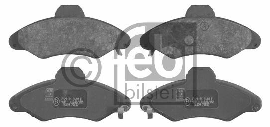 Kit de plaquettes de frein, frein à disque - FEBI BILSTEIN - 16039