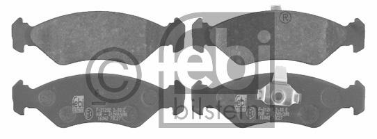 Kit de plaquettes de frein, frein à disque - FEBI BILSTEIN - 16042