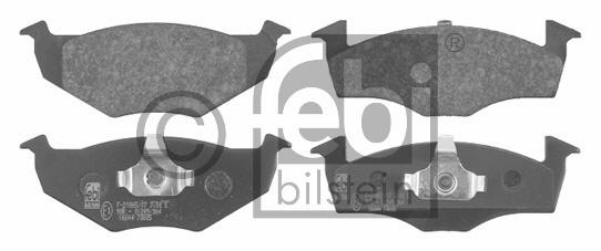 Kit de plaquettes de frein, frein à disque - FEBI BILSTEIN - 16044