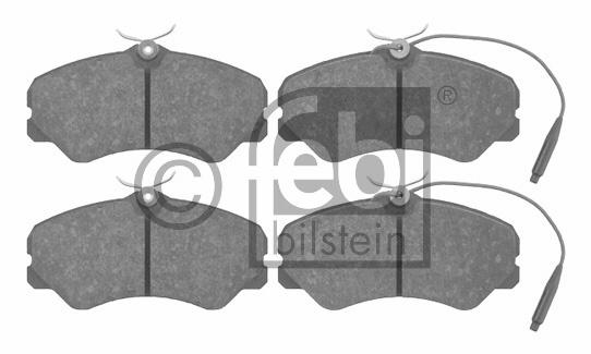 Kit de plaquettes de frein, frein à disque - FEBI BILSTEIN - 16049