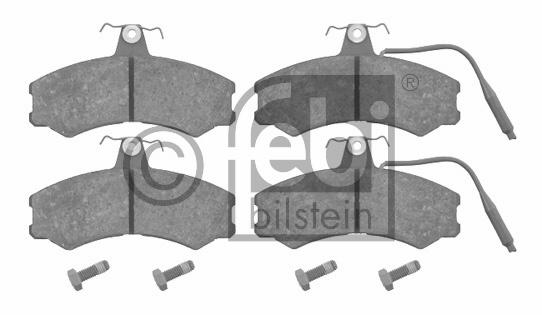 Kit de plaquettes de frein, frein à disque - FEBI BILSTEIN - 16051