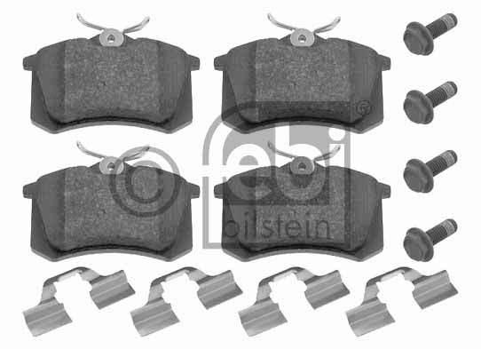 Kit de plaquettes de frein, frein à disque - FEBI BILSTEIN - 16052