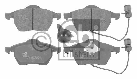 Kit de plaquettes de frein, frein à disque - FEBI BILSTEIN - 16058