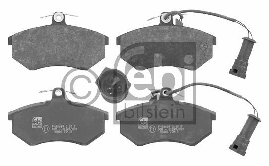 Kit de plaquettes de frein, frein à disque - FEBI BILSTEIN - 16066
