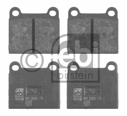 Kit de plaquettes de frein, frein à disque - FEBI BILSTEIN - 16068