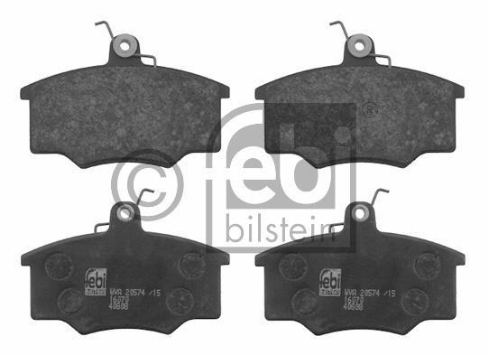 Kit de plaquettes de frein, frein à disque - FEBI BILSTEIN - 16070