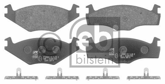 Kit de plaquettes de frein, frein à disque - FEBI BILSTEIN - 16076