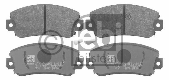 Kit de plaquettes de frein, frein à disque - FEBI BILSTEIN - 16077