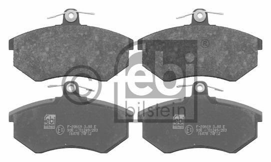 Kit de plaquettes de frein, frein à disque - FEBI BILSTEIN - 16078