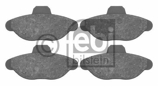 Kit de plaquettes de frein, frein à disque - FEBI BILSTEIN - 16082