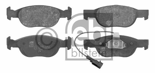 Kit de plaquettes de frein, frein à disque - FEBI BILSTEIN - 16089