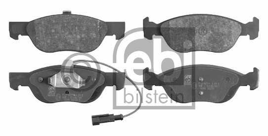 Kit de plaquettes de frein, frein à disque - FEBI BILSTEIN - 16091