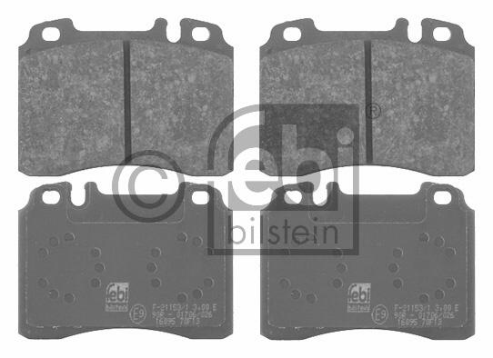 Kit de plaquettes de frein, frein à disque - FEBI BILSTEIN - 16095