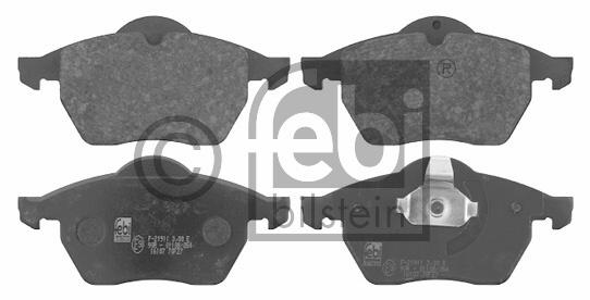 Kit de plaquettes de frein, frein à disque - FEBI BILSTEIN - 16107
