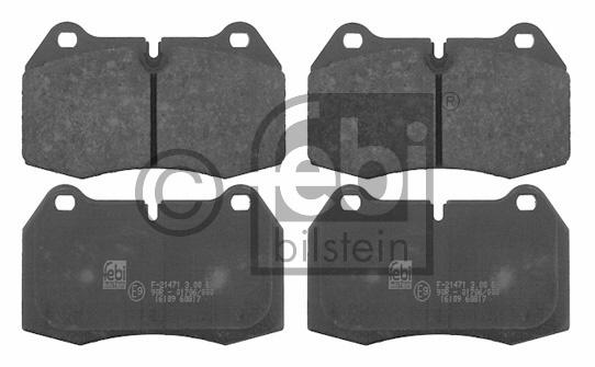 Kit de plaquettes de frein, frein à disque - FEBI BILSTEIN - 16109