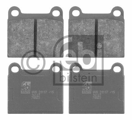 Kit de plaquettes de frein, frein à disque - FEBI BILSTEIN - 16127