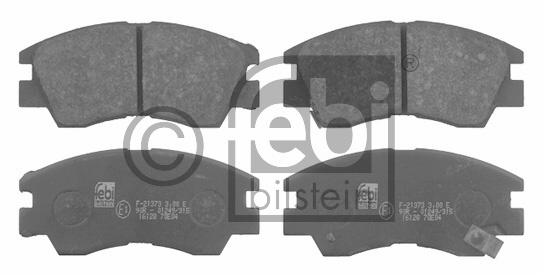 Kit de plaquettes de frein, frein à disque - FEBI BILSTEIN - 16128