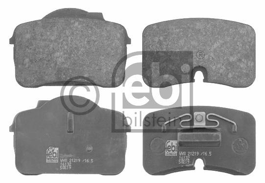 Kit de plaquettes de frein, frein à disque - FEBI BILSTEIN - 16132