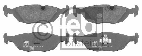 Kit de plaquettes de frein, frein à disque - FEBI BILSTEIN - 16141