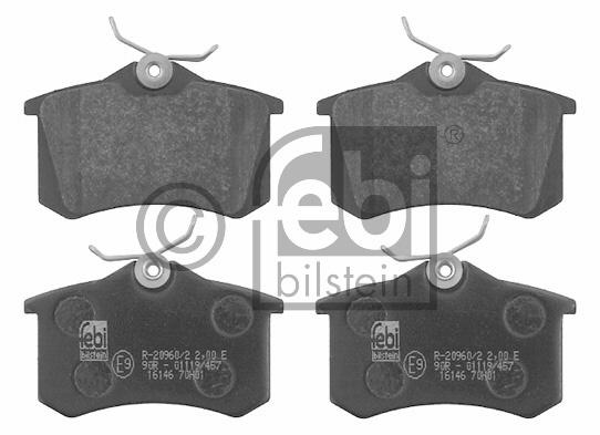 Kit de plaquettes de frein, frein à disque - FEBI BILSTEIN - 16146