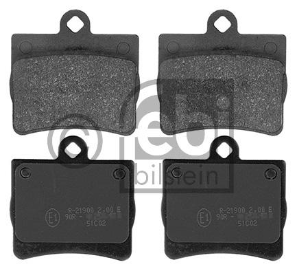 Kit de plaquettes de frein, frein à disque - FEBI BILSTEIN - 16152