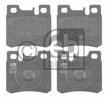 Kit de plaquettes de frein, frein à disque - FEBI BILSTEIN - 16153