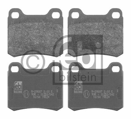 Kit de plaquettes de frein, frein à disque - FEBI BILSTEIN - 16154