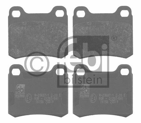Kit de plaquettes de frein, frein à disque - FEBI BILSTEIN - 16156