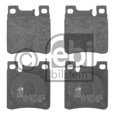 Kit de plaquettes de frein, frein à disque - FEBI BILSTEIN - 16158